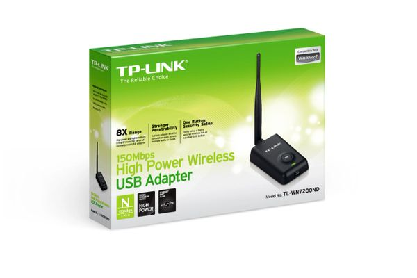 TP-LINK TL-WN7200ND 150Mbps High Power Wireless USB Adapter