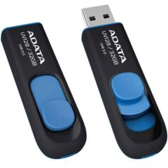 ADATA DashDrive UV128 32GB Retractable USB 3.0 Flash Drive (AUV128-32G-RBE)