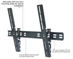"TygerClaw LCD3036BLK - 32"" – 63"" Ultra Slim Tilt Wall Mount"
