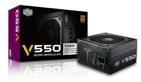 Cooler Master VS Series V550 Semi-Modular 80+ Gold 550W Power Supply (RS550-AMAAG1-S1)