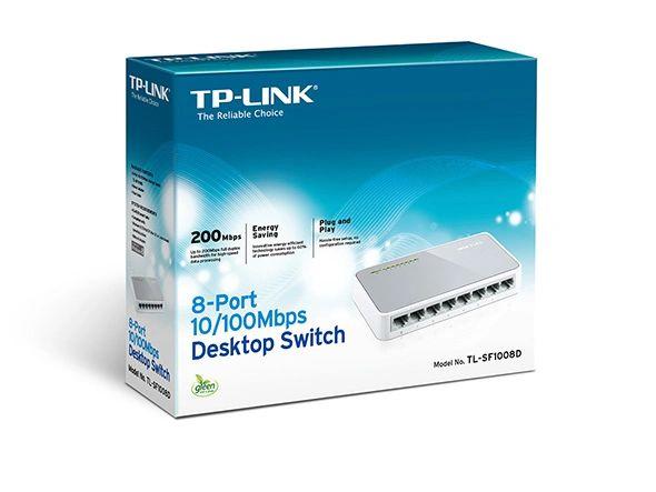 TP-LINK TL-SF1008D 8 Port 10/100Mbps Desktop Switch