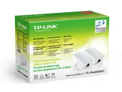 TP-LINK TL-PA4010KIT AV500 Nano Powerline Adapter Starter Kit