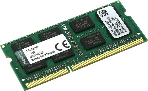 Kingston ValueRAM 8GB DDR3 1600MHz SODIMM KVR16S11/8