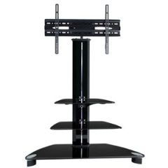TygerClaw LCD8221BLK TV Stand with 3 Shelves (Special Order)