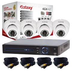 Galaxy 4Channel 1080P Dome Indoor/Outdoor Day & Night All-In-One Kit
