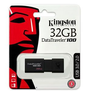 Kingston DataTraveler G3 32GB USB3.0 Flash Drive