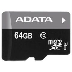 ADATA Premier 64GB microSDXC UHS-I Class 10 Flash Memory (AUSDX64GUICL10-RA1)