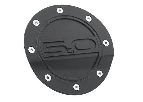 5.0 Comp Series Fuel Door - Black/ FR3Z-6640526-5A