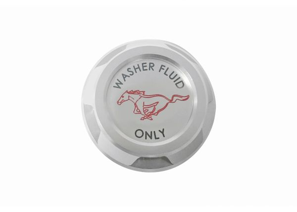 Billet Washer Reservoir Cap with Pony Logo/ FR3Z-17632-BL