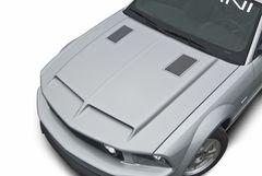 05-09 Mustang Type 4 Ram Air Hood w/ Billet Heat Extractors, Part # 1187, Unpainted