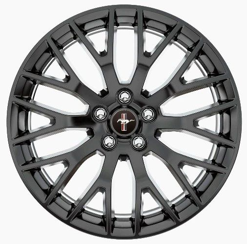 "2015 MUSTANG GT PERFORMANCE PACK REAR WHEEL 19"" X 9.5"" - MATTE BLACK/ M-1007-M1995B"