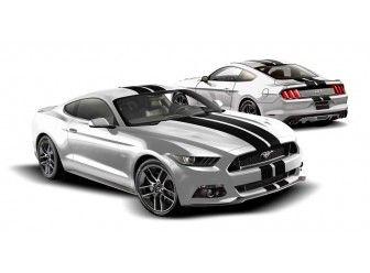 Graphics Kit - Custom Stripe Kit, Over -the-Top, Dual Stripe, Matte Black/ VFR3Z-6320000-J