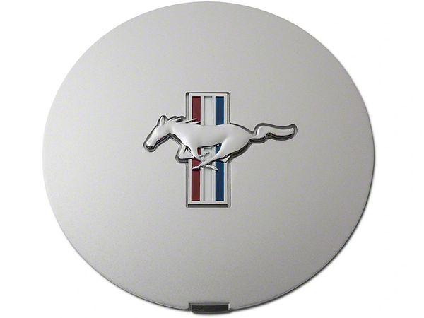 Pony Wheel Center Cap - Argent Silver w/ Tri-Bar Pony, F1ZZ-1130-S