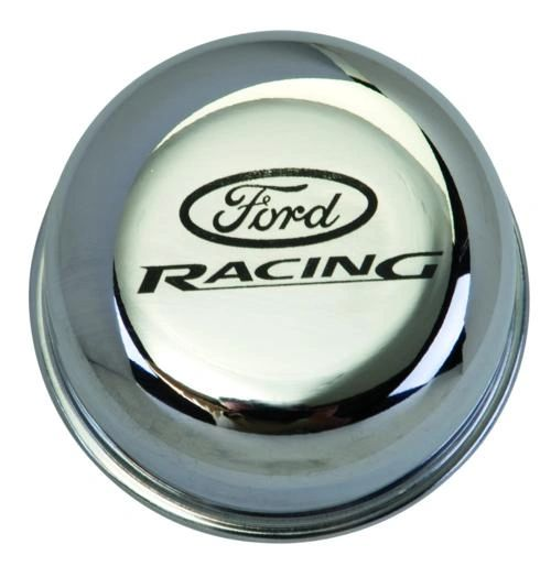 CHROME BREATHER CAP W/ FORD RACING LOGO, M-6766-FRNVCH