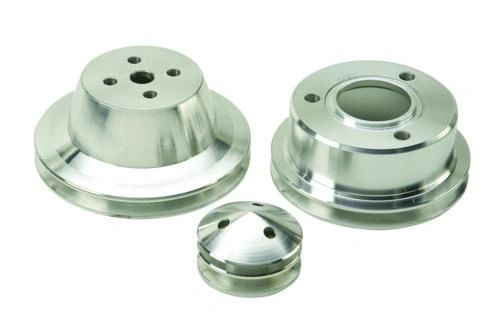 1965-1969 MUSTANG BILLET SINGLE GROOVE PULLEY SET, M-8509-CM