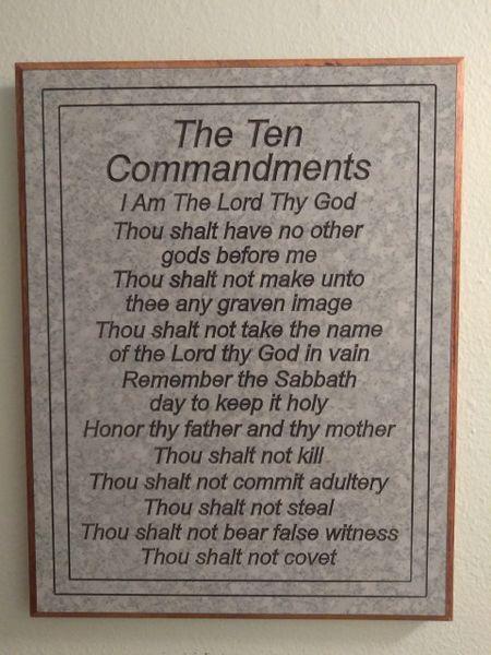 Ten Commandments Platinum Marble