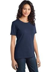 Port & Company Ladies Ring Scoop Neck Spun Cotton Tee