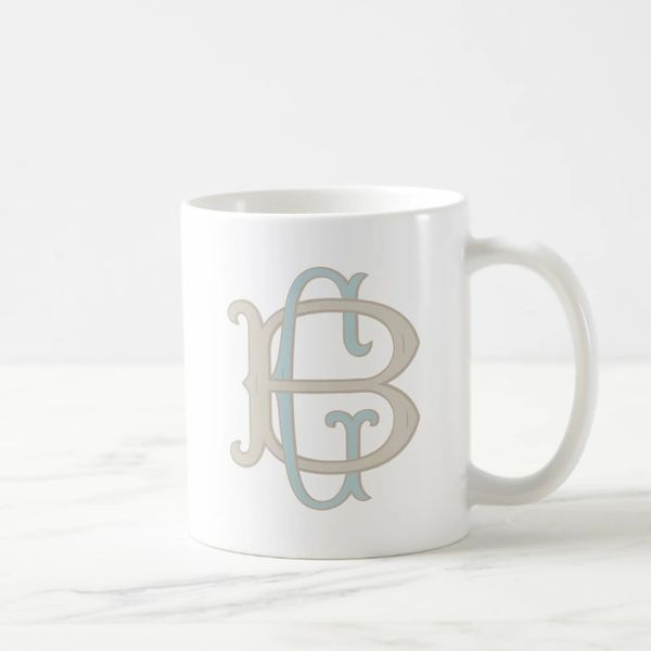 monogrammed coffee mug robin s nest monkey squirrel tails