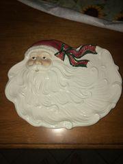 Large Vintage Santa Serving Tray