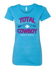 Womens Aqua Broken Arrow Design