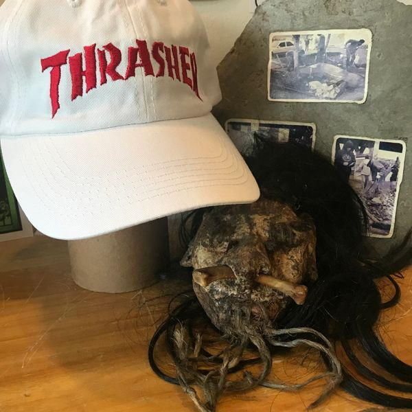Thrasher Neckface logo dad hat