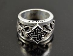 """ INSIGNIA"" Sterling Silver .925 Mens ring Made in U.S.A."