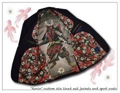 """Ronin"" Signature custom silk lined single breasted sport coat"