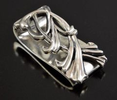 "Thick ""BLOSSOMING VINE"" Money Clip Sterling Silver .925 MADE IN THE U.S.A."