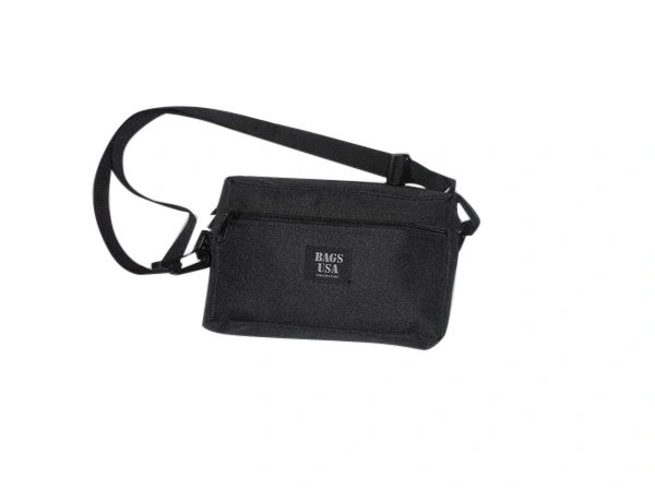 Shoulder bag with front pocket,unisex purse travel clutch personal bag,Made in U.S.A.
