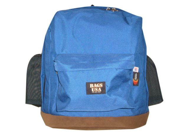 Backpack jumbo size H2O holds two water bottle 22 oz and suede bottom.