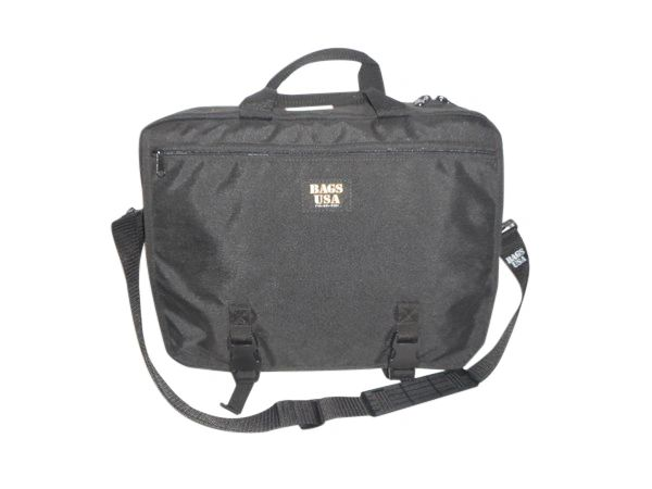 """Business briefcase holds 17"""" laptop Made in USA."""