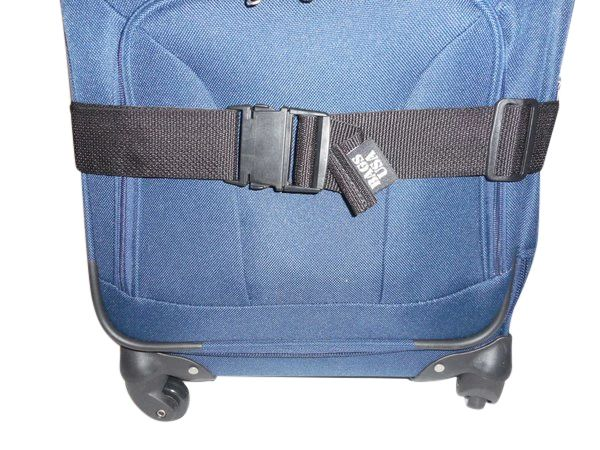 """Luggage straps to secure your luggage, 2"""" wide tie down strap Made in USA."""