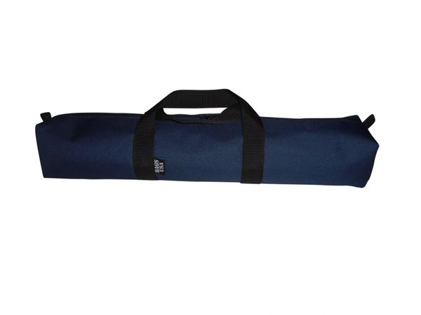 "Utility bag,tripod bag,for camping accessories,Backpacking tent stake bag 24"" x 5 Made in U S A."