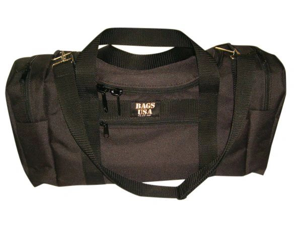 Large triple two end compartment and front pocket for Cell phone,keys,Wallet.