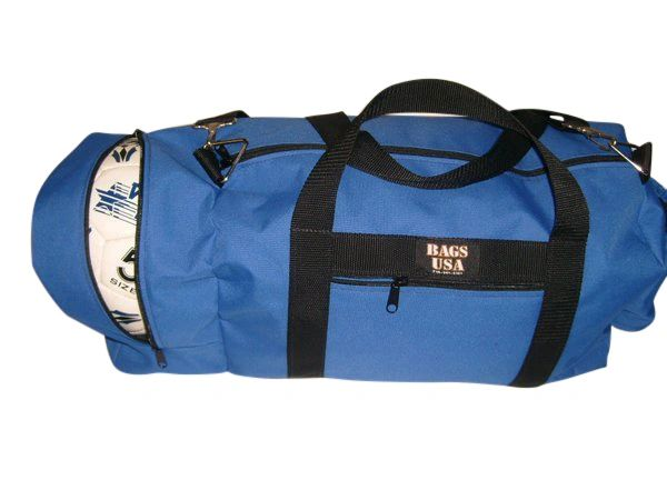 Soccer bag with water bottle holder and separate ball compartment Made in USA.