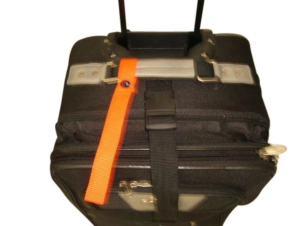 2 - pack Luggage or bag marker,identify your bags with bright orange straps Made in USA.