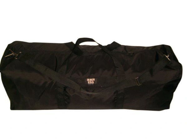 Extra Ex large duffle bag with side pocket, great travel or camping bag Made in USA.