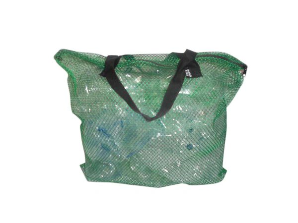 Mesh Tote with zipper closure, Industrial mesh bag for beach,gym,dive gear Made in USA.