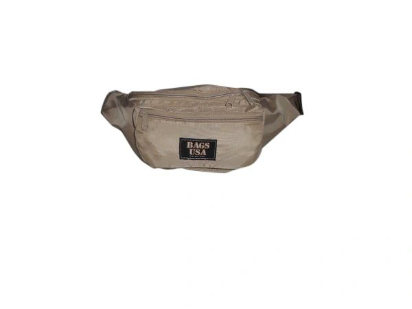 Fanny pack large triple compartment waist bag,durable nylon Made in USA.