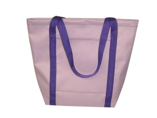Ladies tote,Lilac Purple Knitting bag,Shopping bag Made in USA.