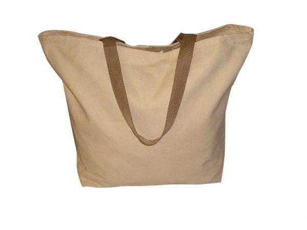Shopping tote bag 10 oz canvas,open top grocery bag ,reusable bag made in U.S.A