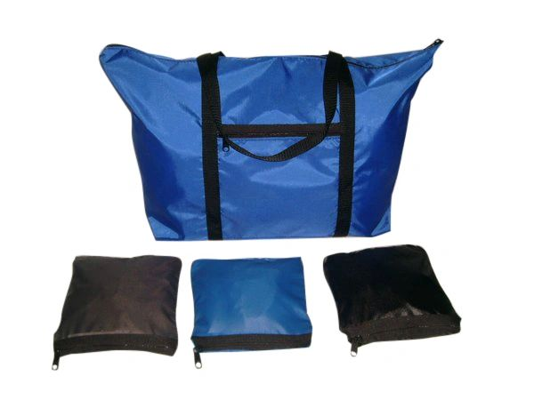 Expandable tote bag,folds up in to its own pocket,great to stow-away.