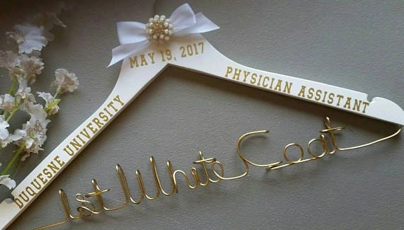 Personalized Hanger White Coat Ceremony First White Coat Pa Graduate Physician Assistant Gift New Pa Gift Lab Coat Hanger Pa Gift