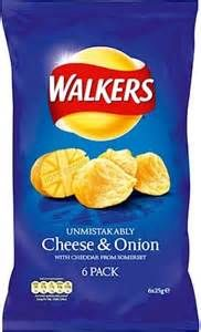Walkers Cheese & Onion 6 pk