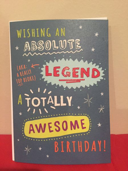 Absolute Legend Birthday Card