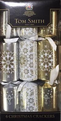 Tom Smiths Silver, Gold & White Cube Cracker (6 pk)