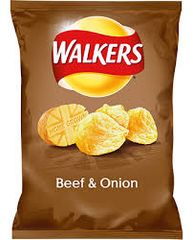 Walkers Beef And Onion Crisps (25g)