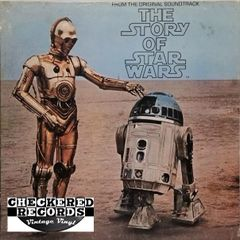 Star Wars The Story Of Star Wars First Year Pressing 1977 US 20th Century Fox Records T-550 Vintage Vinyl Record Album