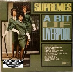 Vintage The Supremes A Bit Of Liverpool First Year Pressing 1964 US Motown MT 623 Vintage Vinyl LP Record Album