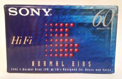 New Sony HiFi Normal Bias Type I 60 Minute Audio Cassette Tape Blank Audio Cassette Tape